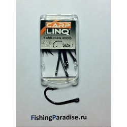 Крючки CARP LINQ ANTI SNAG HOOK №1 black nickel (6шт)