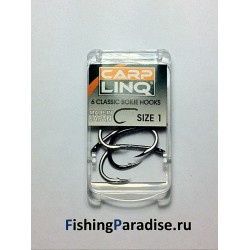 Крючки CARP LINQ CLASSIC BOILIE HOOK №1 black nickel (6шт)