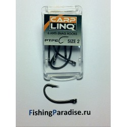 Крючки CARP LINQ PTFE COATED ANTI SNAG HOOK №1 тефлон (6шт)